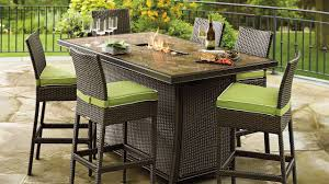 Granite Patio Tables Dining Room Minimalist Outdoor Dining Design On Wooden Deck