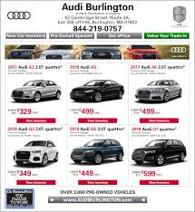 Audi Q5 62 Plate - new audi specials buy or lease a new audi near medford ma