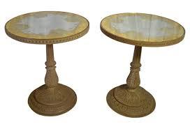 vintage pedestal side table vintage pedestal side tables by jon stuart pair akiba antiques