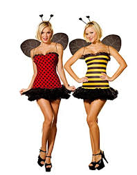 Dreamgirls Halloween Costumes Amazon Dreamgirl Women U0027s Reversible Bumble Bee Lady Bug
