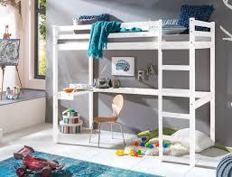 Schreibtisch Kiefer Massiv Hochbett Mit Schreibtisch Dean 90x200 Kiefer Weiß Massivholz Bett