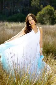 flowing wedding dresses silk chiffon dip dyed garden wedding dress with low