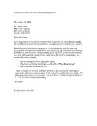 Resume For Nursing Position Cover Letter For Nursing Job Cbshow Co