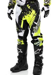 oneal element motocross boots oneal black hi viz 2018 element shocker mx pant oneal