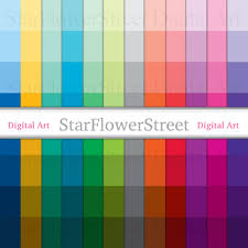 Color Shade by Striped Digital Paper Color Shade Rainbow Paint Chip 8 5x11 Letter