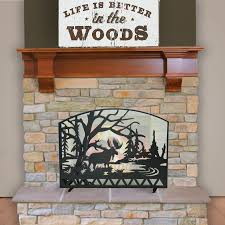 Country Fireplace Screens by Best 25 Rustic Fireplace Screens Ideas On Pinterest Rustic