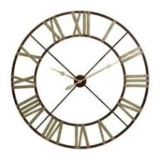 Home Decor Outlet Large Wall Clock 101cm Copper Bertha Metal Industrial Vintage