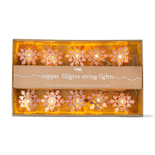tag filigree snowflake 6 ft 10 light led string lights tag207577
