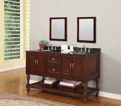 Brown Bathroom Cabinets by 55 Inch Furniture Style Double Sink Bathroom Vanity Uvsr018155