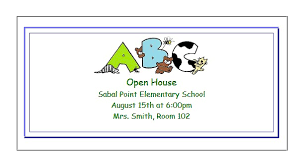 printable open house classroom invitations for teachers