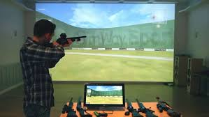 golf simulator home theater simhunt shooting simulator systems for virtual hunting