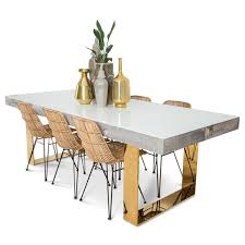 modern dining table in recycled wood and lucite modshop