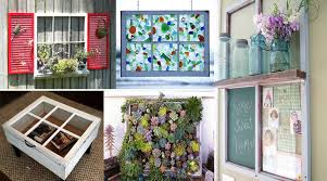 Upcycling Old Windows - old archives the art in life