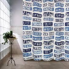 Seahawks Shower Curtain License Plates Shower Curtain Multi 72