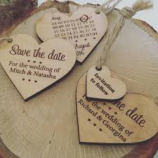 save the dates cheap save the date wooden heart by design by eleven