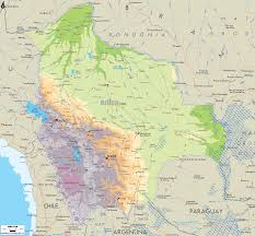 Geographical Map Of South America Physical Map Of Bolivia Ezilon Maps