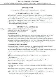 Human Resources Job Description For Resume by 11 Insurance Broker Job Description Resume Resume Insurance Broker