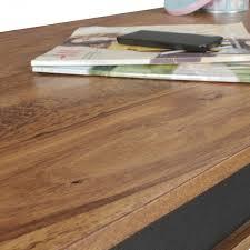 Wohnzimmertisch 100 X 60 Finebuy Couchtisch Karna Kunstleder Massiv Holz Sheesham Natur 118