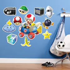 mario kart wii party supplies birthdayexpress com mario kart wii toad giant wall decal