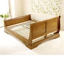 Sleigh Platform Bed Frame by Bed Frames Wood Headboard King Cherry Sleigh Bed King Platform