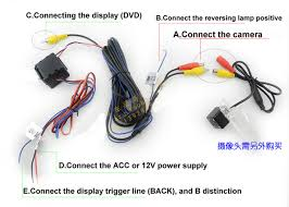 filter car rear view reverse camera video u0026 power wires cables