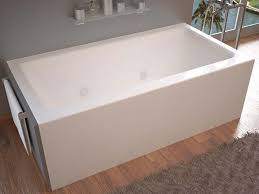 venzi madre 32 x 60 front skirted whirlpool tub with right drain