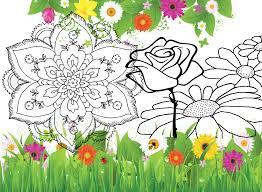 fiori disegni fiori da colorare disegni da stare a tema fiori per grandi e