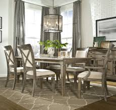 dining room sets with fabric chairs 7 piece dining set with leg table with 1 18 inch extension leaf