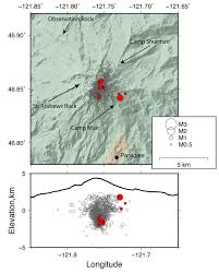 Earthquake Map Usgs Scientists Say Recent Quake Swarm At Rainier Doesn U0027t Signal