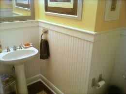 Wainscoting Bathroom Ideas by Small Bathroom Modern Beadboard Bathroom With Wall Mounted White