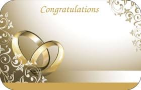 congratulations wedding card gold rings pack of 50 enclosure