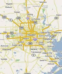 map of houston area map of houston tx black