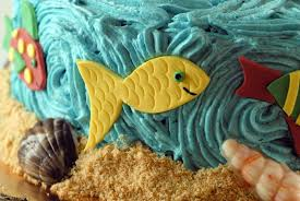 night baking two are due beach themed twin baby shower cake
