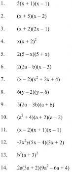 Factoring Expressions Worksheet Factoring Polynomials