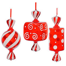 candy ornaments assorted large christmas candy ornaments 15 inch 3 box