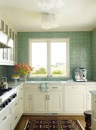 green white kitchen white kitchen with green mosaic tile backsplash transitional