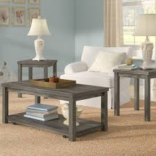 wayfair coffee table sets incredible coffee table set with regard to rosecliff heights nashua