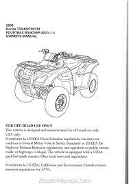 28 2008 honda rancher 420 owner manual 4258 honda trx420