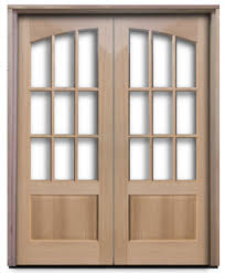 Solid Wood Interior French Doors - oak prehung interior 9 lite arched french doors 36 for the
