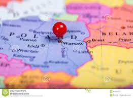 Map Poland Red Push Pin On Map Of Poland Stock Photo Image 47255071