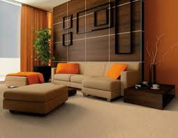 living room orange wall ideas interior house paint colors floral