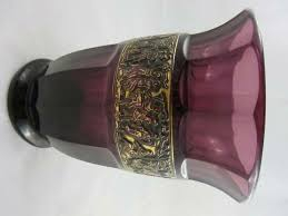 Amethyst Glass Vase Moser Walther Vase Arts U0026 Crafts Antiques