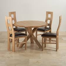 natural oak dining set 3ft 7 u0026quot table 4 wave back chairs
