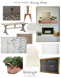 rustic industrial dining room mood board u2014 homespo