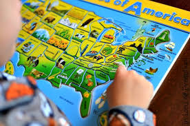 usa map puzzle for toddlers teaching us geography with puzzles in lieu of preschool