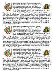 teaching worksheets thanksgiving day