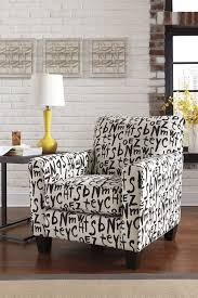 Chevron Accent Chair Chair Accent Chair Black And White Script Pattern