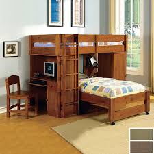 Bunk Bed Computer Desk Wooden Bunk Beds With Desk All Furniture Wooden Bunk Beds With