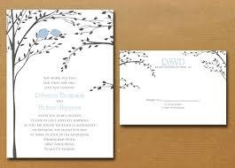 items similar love birds tree wedding invitation sample diy