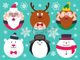 imagenes animadas de renos de navidad conjunto de caracteres de navidad del bebé lindo contienen poco